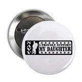 Proudly Support Dghtr - NAVY Button