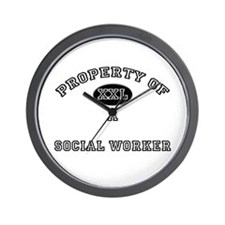 Property of a Social Worker Wall Clock