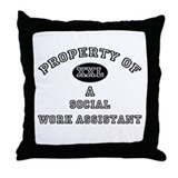 Property of a Social Work Assistant Throw Pillow