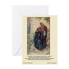 Ruth and Naomi - Copping - Greeting Card