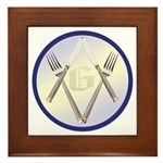 Masonic Knife and Fork Degree Framed Tile