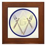 Masonic Knife and Fork Degree Framed Tile
