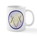 Masonic Knife and Fork Degree Mug
