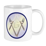 Masonic Knife and Fork Degree Mug