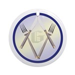 Masonic Knife and Fork Degree Ornament (Round)