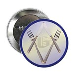 Masonic Knife and Fork Degree Button