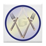 Masonic Knife and Fork Degree Tile Coaster