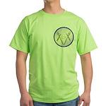 Masonic Knife and Fork Degree Green T-Shirt