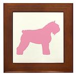 Pink Bouvier Des Flandres Framed Tile