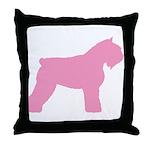 Pink Bouvier Des Flandres Throw Pillow