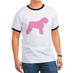 Pink Bouvier Des Flandres Ringer T