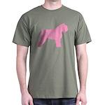 Pink Bouvier Des Flandres Dark T-Shirt
