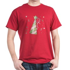 Birthday Party Hat Dark T-Shirt