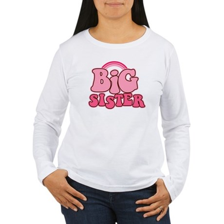 Retro Big Sis Women's Long Sleeve T-Shirt