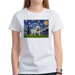 Starry Night English Bulldog Women's T-Shirt