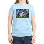 Starry Night English Bulldog Women's Light T-Shirt