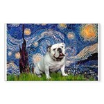 Starry Night English Bulldog Sticker (Rectangle)