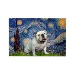Starry Night English Bulldog Rectangle Magnet