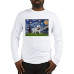 Starry Night English Bulldog Long Sleeve T-Shirt