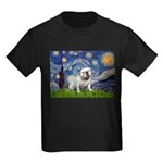 Starry Night English Bulldog Kids Dark T-Shirt