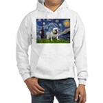 Starry Night English Bulldog Hooded Sweatshirt