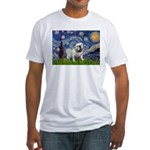 Starry Night English Bulldog Fitted T-Shirt