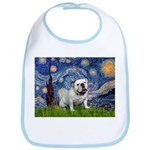 Starry Night English Bulldog Bib