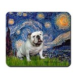 Starry Night English Bulldog Mousepad