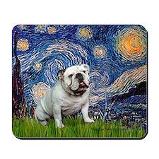 Starry Night English Bulldog Mousepad