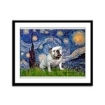 Starry Night English Bulldog Framed Panel Print
