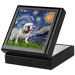 Starry Night English Bulldog Keepsake Box