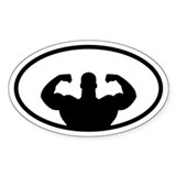 Weightlifter Oval Decal