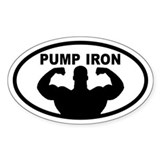 Pumping Iron Oval Decal