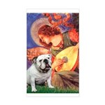 Mandolin Angel & English BD Sticker (Rectangle)