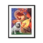 Mandolin Angel & English BD Framed Panel Print