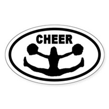 Cheerleader CHEER Oval Decal