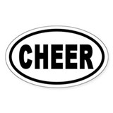 Basic Cheerleading CHEER Oval Decal