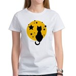 Black Cat/Moon Women's T-Shirt
