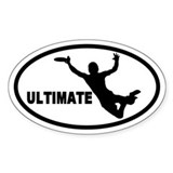 Ultimate Frisbee Oval Bumper Stickers