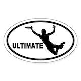 Disc golf bumper stickers Single