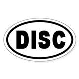 Basic DISC Oval Decal