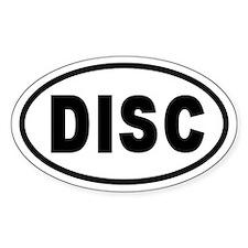 Basic DISC Oval Decal
