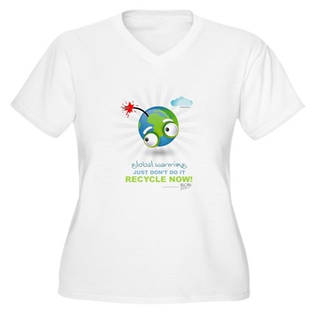 Earth as a Bomb Women's Plus Size V-Neck T-Shirt