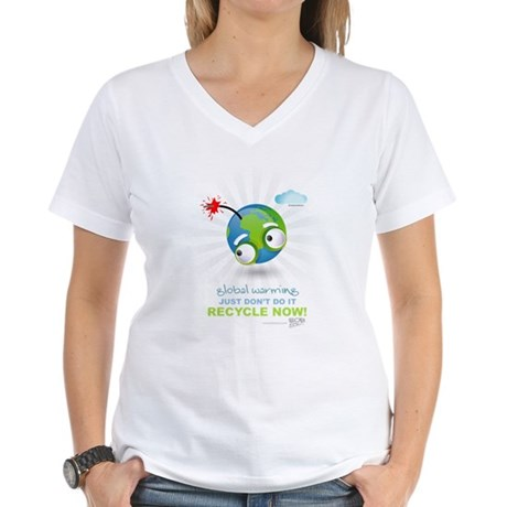 Earth as a Bomb Women's V-Neck T-Shirt