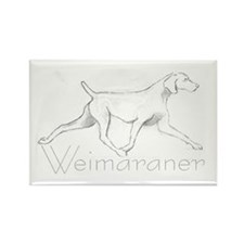 Weimaraner Trotting Rectangle Magnet