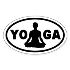 Yoga Lotus Oval Decal