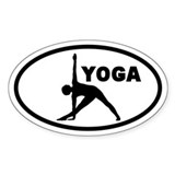 Yoga Pose Oval Decal