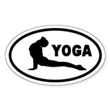 Yoga Upward Facing Dog Oval Decal