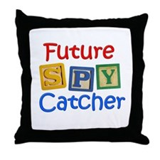 Future Spy Catcher Throw Pillow