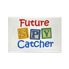 Future Spy Catcher Rectangle Magnet